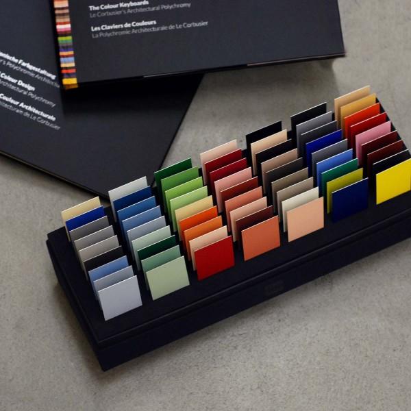 Set: Le Corbusier´s Musterbox, Farbenklaviaturen und Architektonische Farbgestaltung