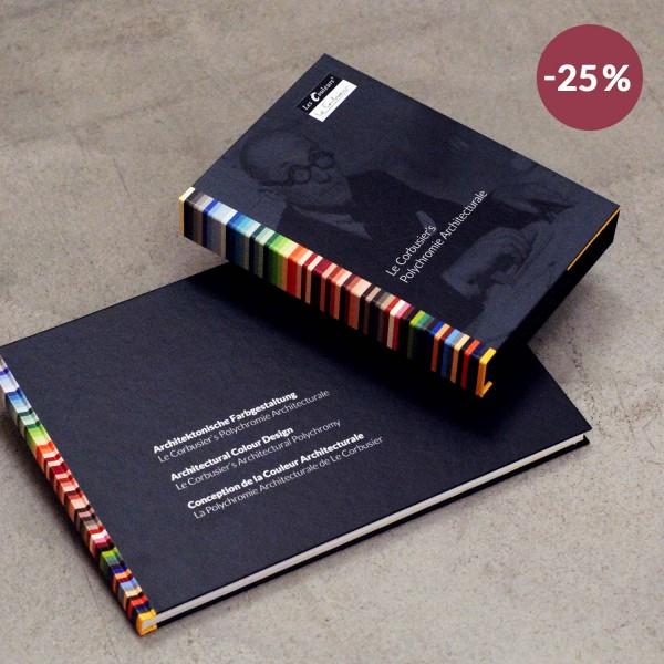 Set: Le Corbusier´s Architektonische Farbgestaltung und dreireihiger Farbfächer