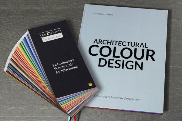 """Set: Le Corbusier's Farbfächer, und das Buch """"Architectural Colour Design"""""""