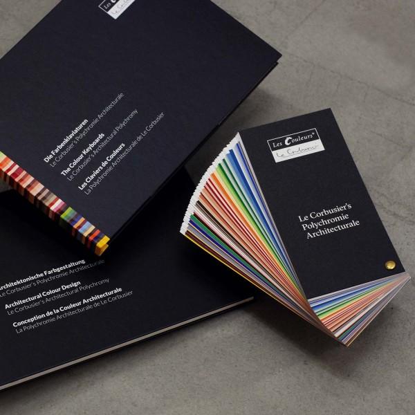 Set: Le Corbusier's Farbfächer, Farbenklaviaturen und Architektonische Farbgestaltung